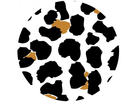 "Hershey Kisses Labels Cheetah Print ( .75"" Round )"
