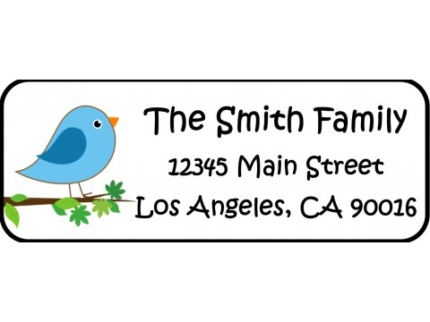 Address Labels  - Blue Bird