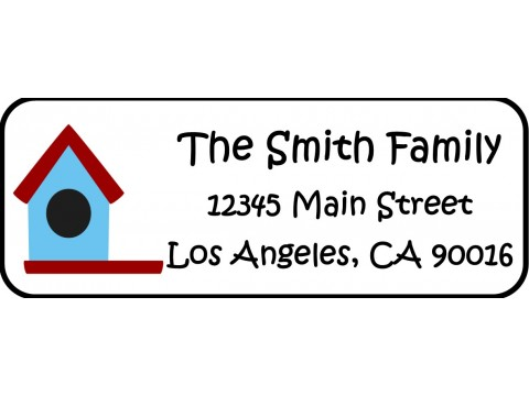 Address Labels  - Blue Birdhouse