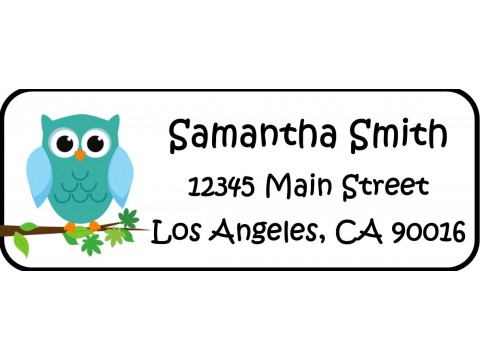 Address Labels  - Blue Owl