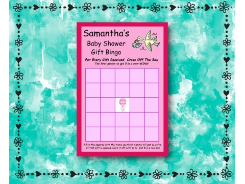 Baby Shower Gift Bingo - Game Cards - Pink
