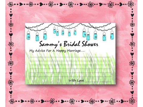 Bridal Shower Wishes - Game Cards - Mason Jars