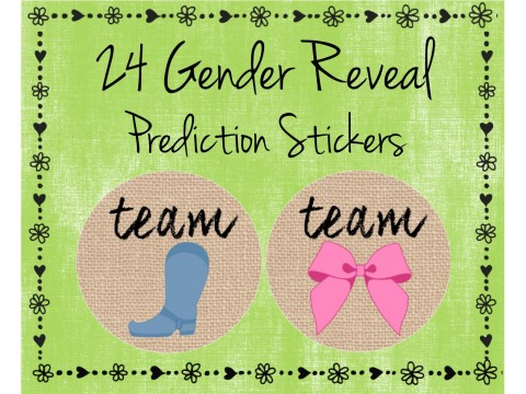 Team Boots / Team Bow - Gender Reveal Prediction Labels - Gender Reveal Baby Shower
