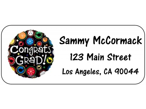 2019 Grad Address Labels  - Black Circle