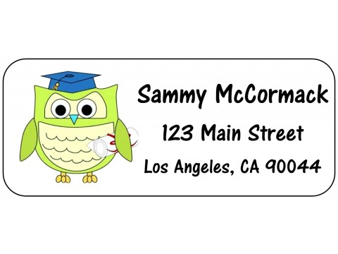 2019 Grad Address Labels  - Grad Owl