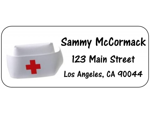 2019 Grad Address Labels  - Nurse Cap