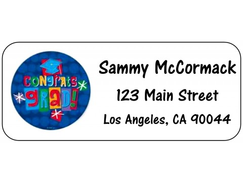 2019 Grad Address Labels  - Blue Circle