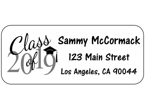2019 Grad Address Labels  - BLACK