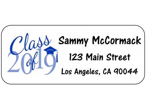 Grad Address Labels & Seals Class of 2019 - BLUE