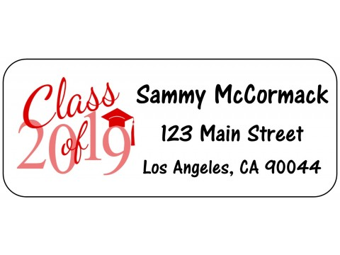 2019 Grad Address Labels  - RED