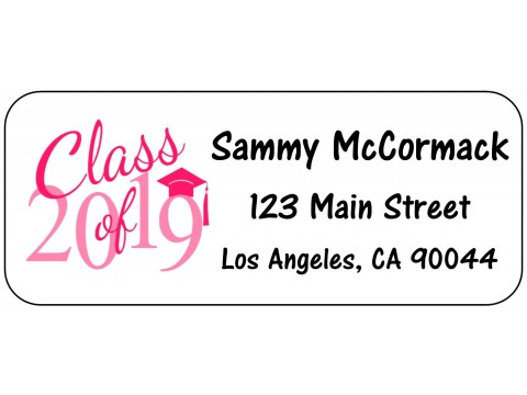2019 Grad Address Labels  - PINK