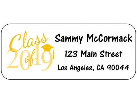 2019 Grad Address Labels  - YELLOW