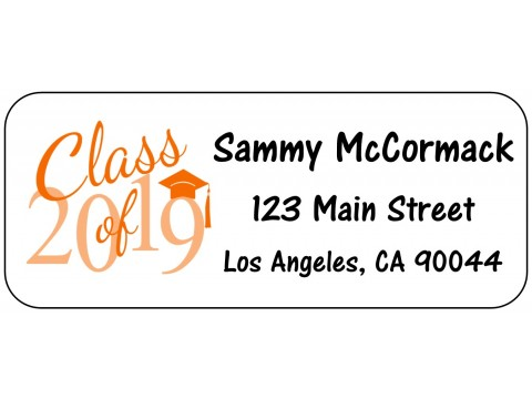 2019 Grad Address Labels  - ORANGE