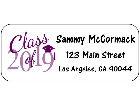 2019 Grad Address Labels  - PURPLE