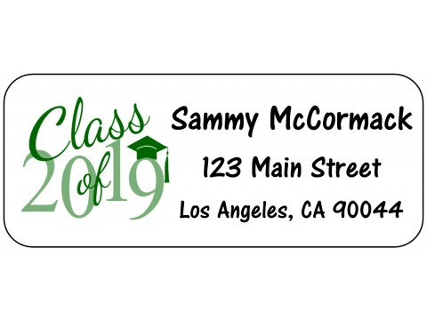 2019 Grad Address Labels  - GREEN