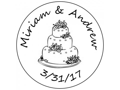 Hershey Kisses Labels - Bridal Shower & Wedding ( .75 round ) Wedding Cake