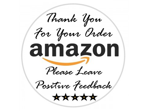 "1"" Amazon Thank You Labels"
