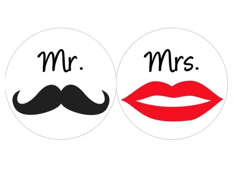 Hershey Kisses Labels - Mr. & Mrs. - Wedding Favors - Bridal Shower - Favor Stickers