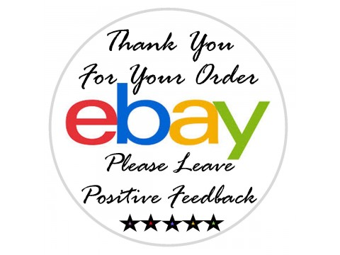 "1"" eBay Thank You Labels"